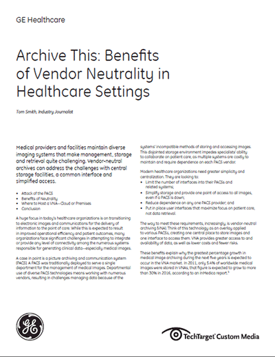 Benefits of Vendor Neutrality in Healthcare Settings